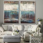 2p 71x82 Large Set Texture Painting Set Of Painting Abstract Original Painting
