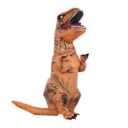 T-rex Dinosaur Inflatable Costume Suit Outfit W/batteries Fans For Kids Cosplay