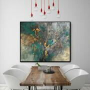 31x39 Large Abstract Acrylic Painting On Canvas Green Painting Abstract Paintin
