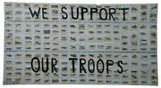 We Support Our Troops Original Decoupage By Jacques Flechemuller Mixed Media
