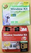 1 Each 3m And Duck Window Insulator Kits For 10 Total 3' X 5' Windows.