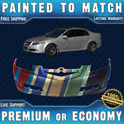 New Painted To Match - Front Bumper Replacement For 2007 2008 Acura Tl Base Navi