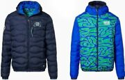Porsche Driverand039s Selection Menand039s Hippie Reversible Quilted Jacket- Martini Racin