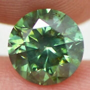 Loose Green Diamond Round Shape Fancy Color 2 Ct Natural Si2 Certified Enhanced