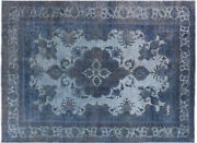Overdyed Hand Knotted Rug 9' 6 X 12' 9 - Q4403