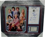 The Brady Bunch Cast Framed Collage Signed By Robert Reed Mccormick Eve Plumb +6