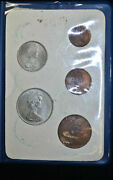 Great Britain 1968-1971 First Decimal Coins 5 Coin Set In Blue Wallet W/ Coa