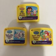 Lot Of 3 Leap Frog My First Leap Pad Game Cartridges Dora