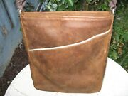 Waterfield Indy Aniani Brown Leather Vertical Crossbody Bag 10x 121 Nice