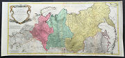 1770 Tobias Lotter Very Large Old Antique Map Of Russia Siberia And Central Asia