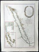 1787 D Anville And Niebuhr Large Antique Map The Red Sea Suez Canal And Saudi Arabia