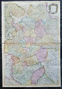 1712 John Senex Large Antique Map Of Europe Russia Moscow - Finland To Azov