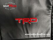 Leather Seat Covers 07-13 Toyota Tundra Crewmax Double Cab Black Red Trd Logos