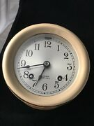 Chelsea Antique Ships Bell Clock3 3/4 In Dial1946. pristine Condition