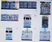 Vtg Arch Wrought Cast Iron Old English Garden Fencing Gate 9 Lot Available Each