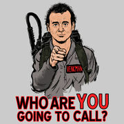 Ghostbusters Who Gonna Call Funny Mashup Oldskool Art Mens Shirt W/ Options