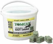 Motomco Tom Cat Bait Chunx 4 Pounds Controls Mice Rats All Weather