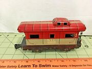 Nyc 20102 Vintage Pre War Tin Train Caboose Car Free Shipping As-is