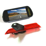 Brake Light Reverse Backup Camera +7and039and039 Rear View Mirror Monitor For Ford Transit