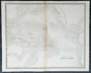 1845 Johnston Large Antique Map Australia, New Zealand, Pacific And North America