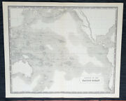 1845 Johnston Large Antique Map The Pacific Australia, New Zealand North America