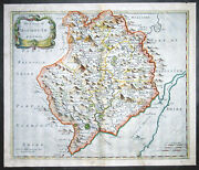 1695 Morden Antique Map The Welsh County Of Monmouth