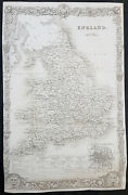 1836 Thomas Moule Large Original Antique Map Of England And Wales