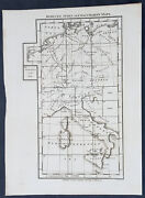 1800 Stockdale Original Antique Index Map Of Capt Chauchards Maps Italy Germany