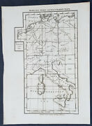 1800 Stockdale Original Antique Index Map Of Capt Chauchards Maps Italy, Germany
