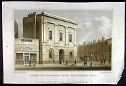 1829 Shepherd Antique Print Of The Asylum For The Blind, Westminster Road London