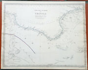 1837 Sduk 2 X Antique Maps Of Tripoli North Africa, Lybia