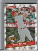 2020 Panini Donruss H10 Mike Trout Silver Refractor Angels 233/349 3120
