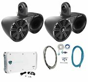 Pair Of Kicker 6.5 Wakeboard Component Speakers+6 Channel Amplifier+amp Kit