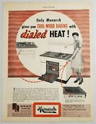 1940s Print Ad Monarch Duo Oven Range Coal,wood, And Electric Or Gas Beaver Dam,wi