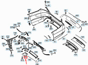 New Mercedes-benz E W212 Left Tail Pipe Cover A0004900127 Oem