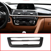 Carbon Fiber Look Center Console Frame For Bmw 3 4 Series Gt F30 F32 F34 13-18