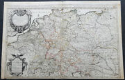 1692 Jaillot Large Antique Map Of Allemagne Or German Empire, Central Europe