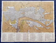 1782 Robert Sayer And John Bennett Large Early Antique Map Of London, Rare