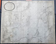 1794 Laurie And Whittle Large Very Rare Blueback Map Sea Chart Of The Baltic Sea