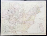 1860 Blackie And Son Large Antique Map Of The Eastern United States Inset Florida