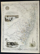 1851 John Tallis Antique Map Of The Colony Of New South Wales, Australia
