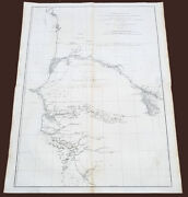 1751 D Anville Very Large Antique Map The West Coast Of Africa Gambia And Senegal