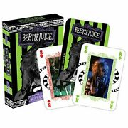 Aquarius Beetlejuice Designed Officially Licensed Linen Finished Playing Cards