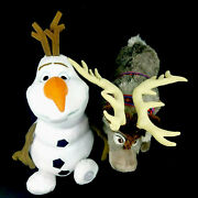 Disney Store Frozen Olaf And Sven Lot Of 2 Large Plush