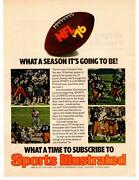 1976 Sports Illustrated Magazine Upcoming Nfl Season Subscription Offer Print Ad