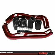 Red Turbo Intercooler Pipe And Boot Kit For Ford 6.0l Powerstroke Diesel 2003-2007