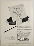 1947 Magazine Print Ad Ronson Adonis Sterling Silver Cigarette Lighters