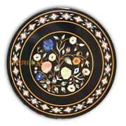 32and039and039 Round Marble Top Table Floral Semi Art Bedroom Inlay Indoor Decoration B393