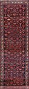 Geometric Bakhtiari Long Runner Rug Vegetable Dye Oriental Hand-knotted 4and039x18and039
