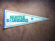 Rare 1970and039s / 1980and039s Nasl Soccer Football Pennant Flag Seattle Sounders Sharp